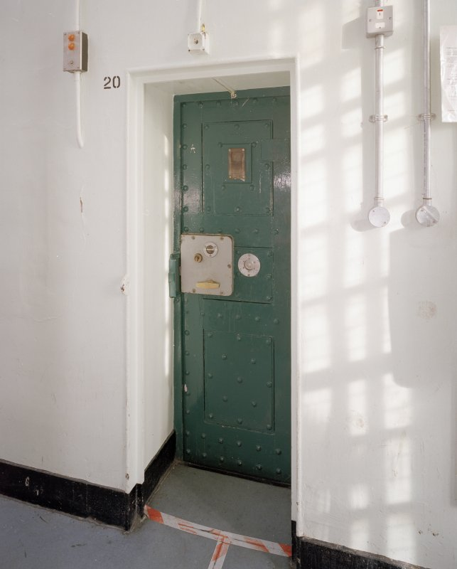 Interior. C Hall. 3rd floor. Typical cell door