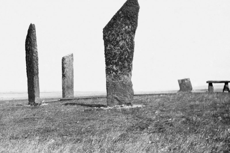 View of Stones of Stenness, Orkney Finlay. 35