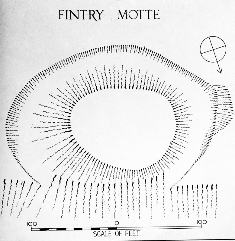 Inked plan: motte at Fintry.