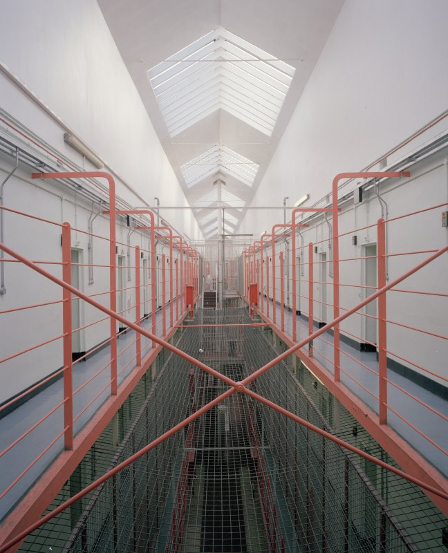Interior view of C Hall, thrid floor, Perth Prison.