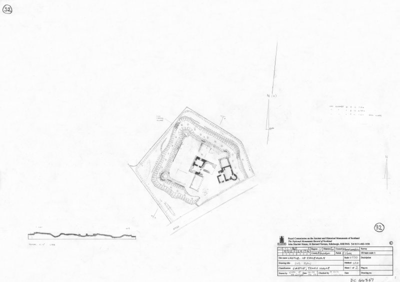 400dpi scan of DC44357 RCAHMS plan of Castle of Esslemont