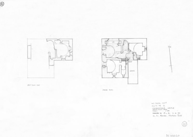 400dpi scan of DC44420 RCAHMS Plan of tower house