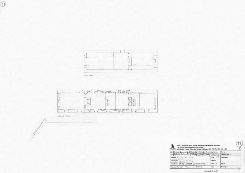 400dpi scan of DC44462 RCAHMS Floor plans