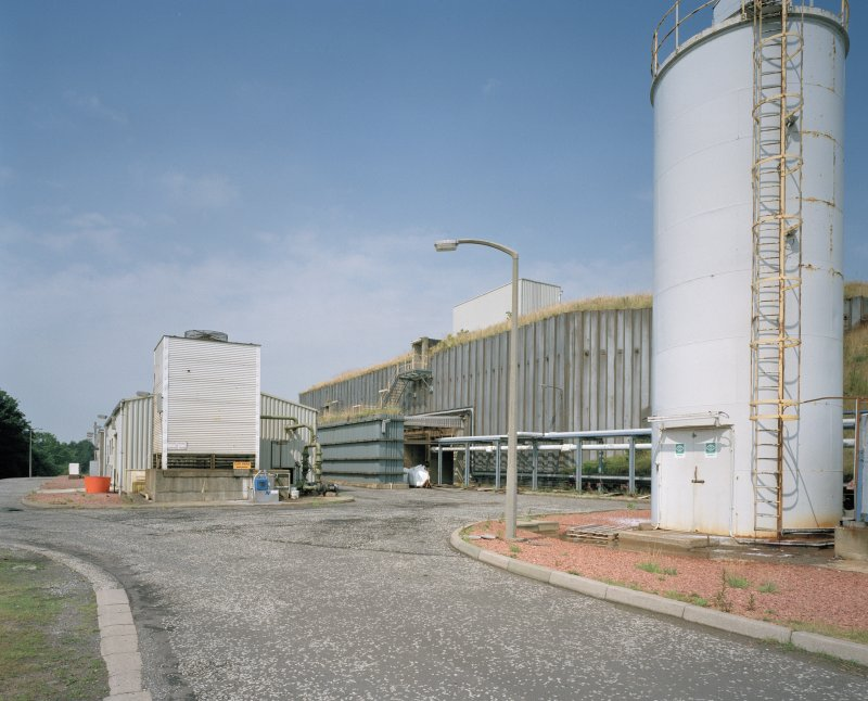 Exterior view of PETN plant (building No. TA12), with ancillary buildings (left) housing the Control Room, compressed air and hydraulic plant