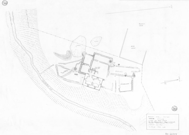 400 dpi scan of DC44388 RCAHMS plan of farmstead