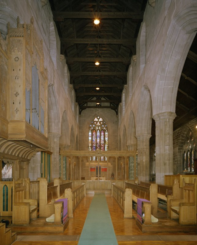 Interior. Choir. View from W