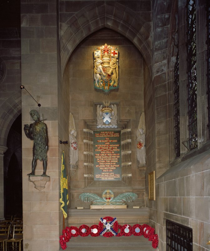 Interior. War memorial. Detail