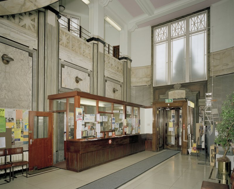 Interior. Ground floor. Foyer. View from NW