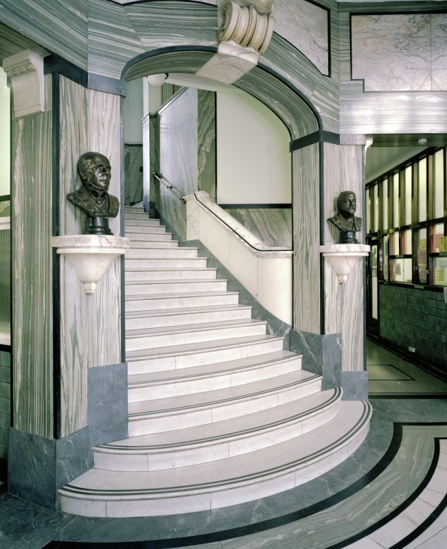 Interior. Ground floor. Foyer. Main stair.