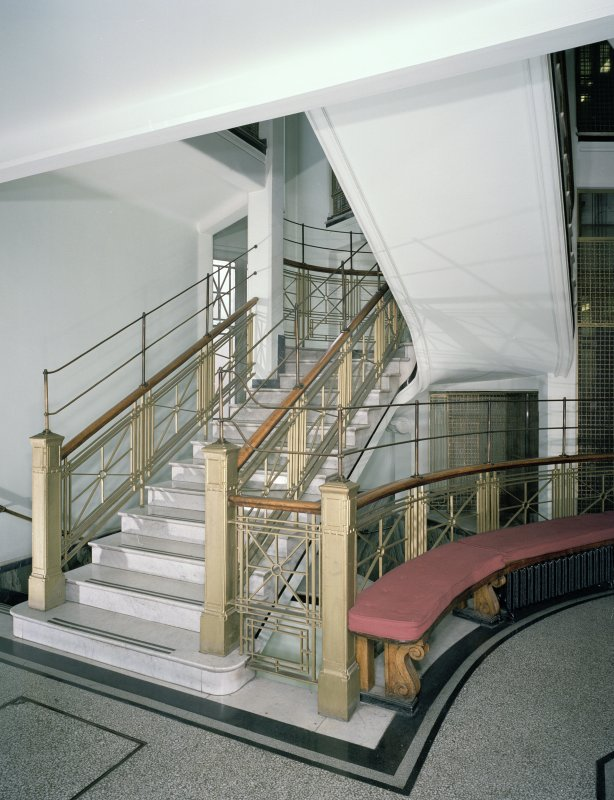 Interior. 1st floor. Main stair