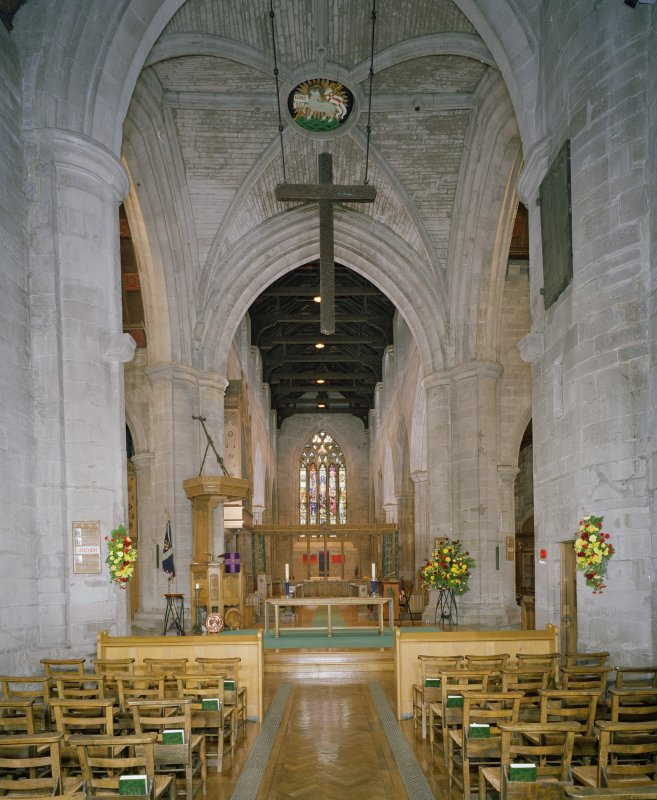 Interior. Nave and crossing. View from W