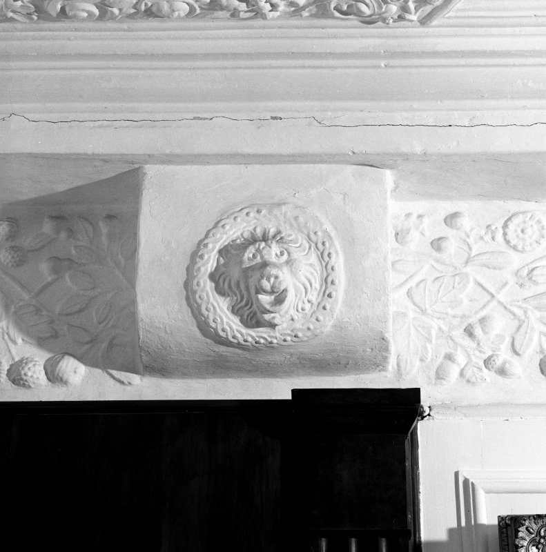 Interior. 3rd. floor, Lady Sempill's room, detail of plaster corbel