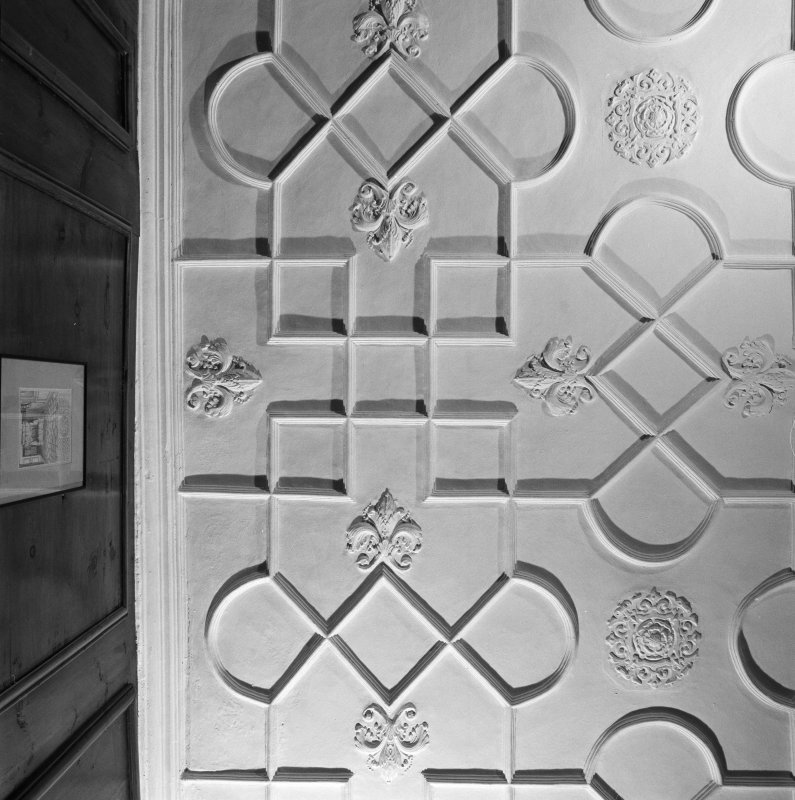 Interior. 4th. floor, Night nursery, plan view of south west corner section of ceiling