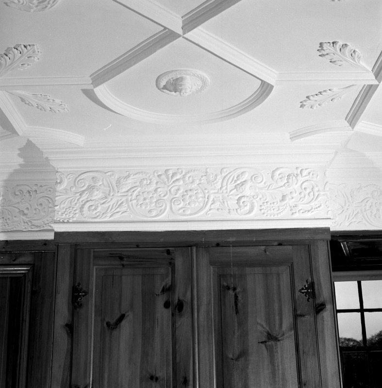 Interior. 4th. floor, School room, detail of plaster frieze