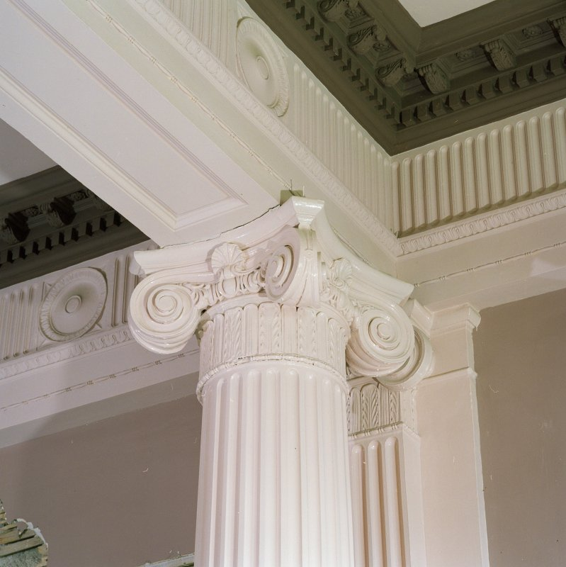 Interior. Ground floor, ballroom, detail of column capital