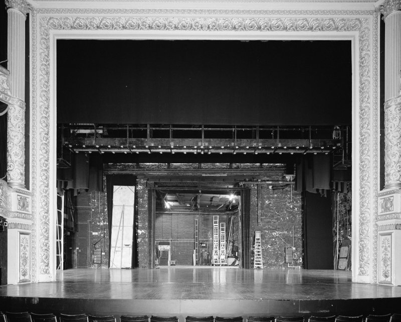 Interior. Stage. View from N