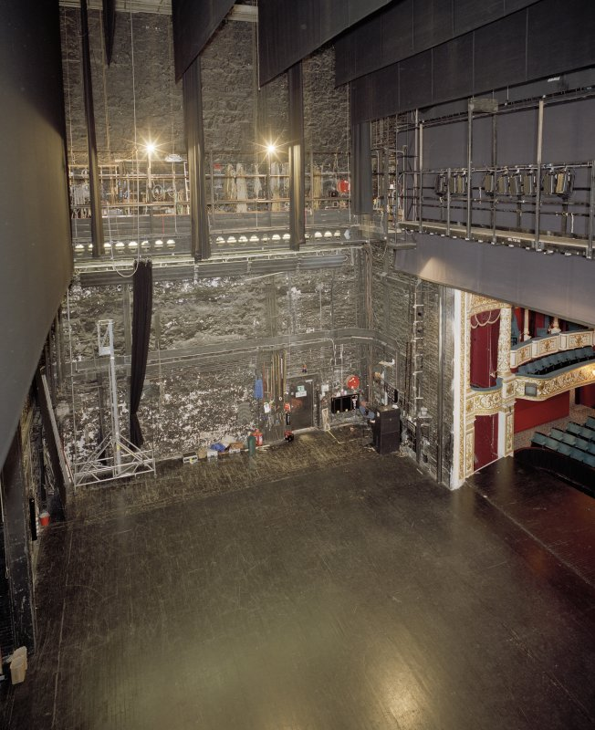 Interior. Elevated view of stage.