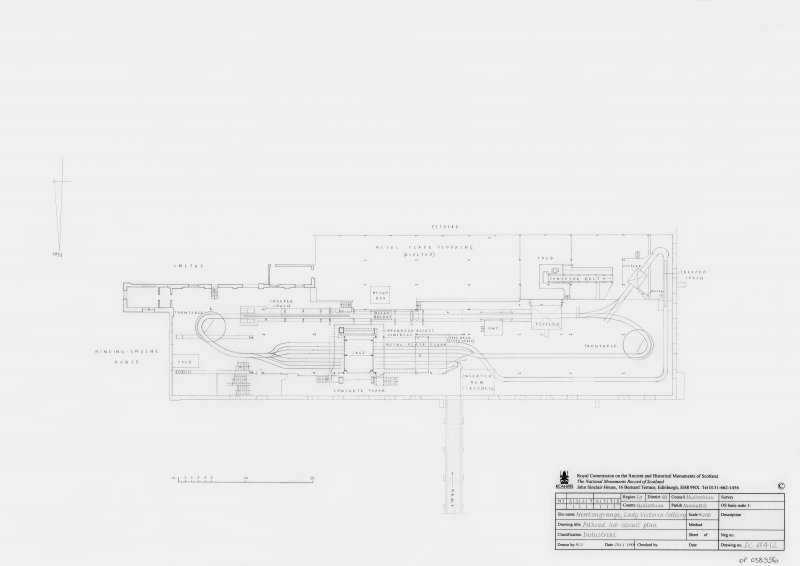 Lady Victoria Colliery: Pithead tub-circuit plan
