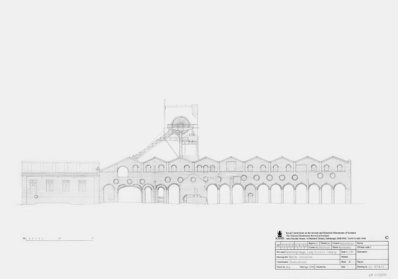 Lady Victoria Colliery: North elevation
