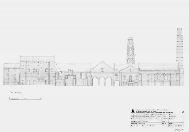 Lady Victoria Colliery: East elevation
