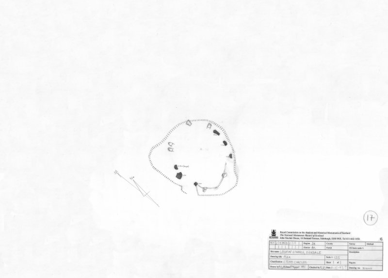 400dpi scan of DC32357 Plan of Loupin Stanes stone circle