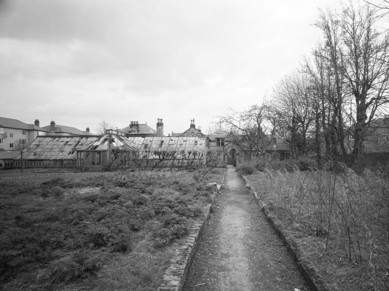 Glasgow, 6 Rowan Road, Craigie Hall, interior. View of caretaker's house and greenhouse from South-West.