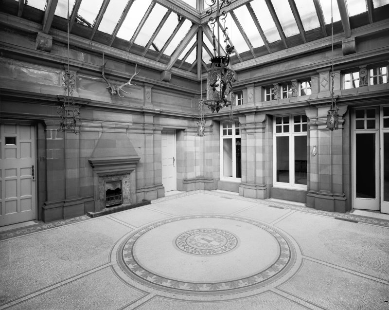 Glasgow, 6 Rowan Road, Craigie Hall, interior. View of conservatory from South-East.