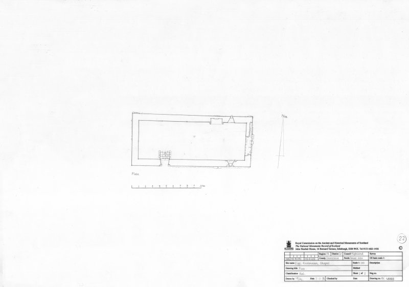 Survey drawing; plan of chapel at Kildonnan