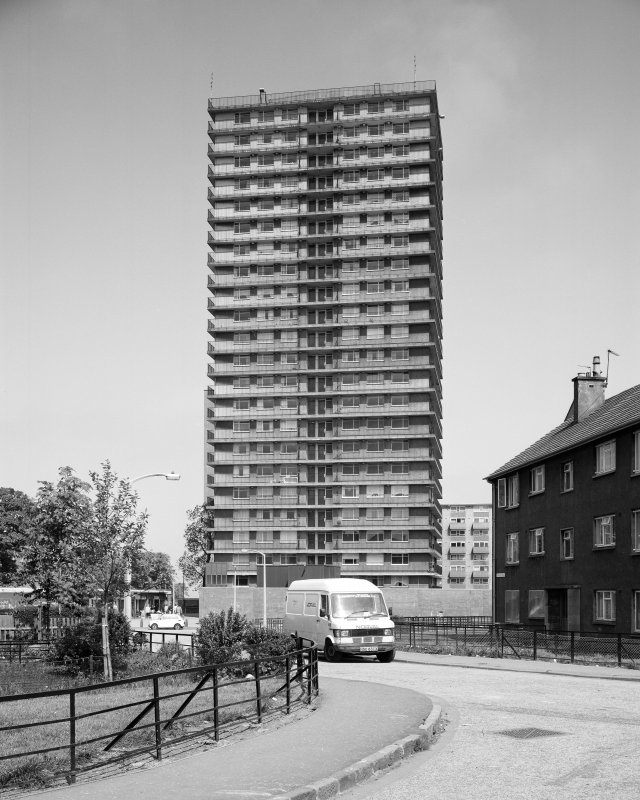 Edinburgh, Martello Court. General view from South.