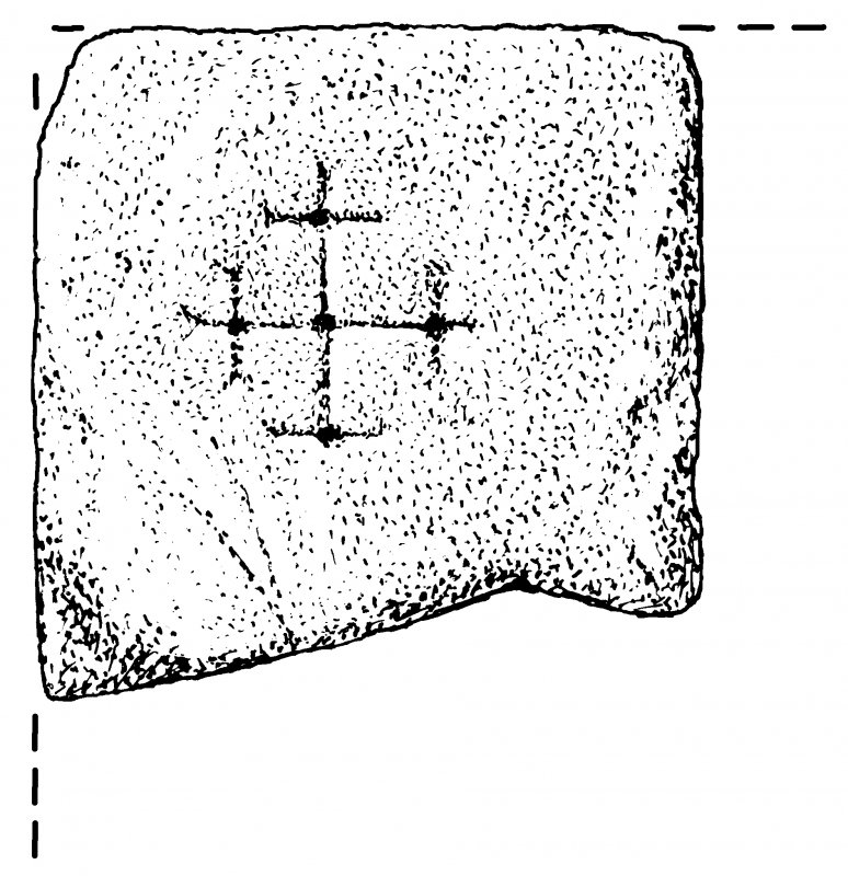 Measured drawing of cross-slab from Crosskirk, Eshaness.