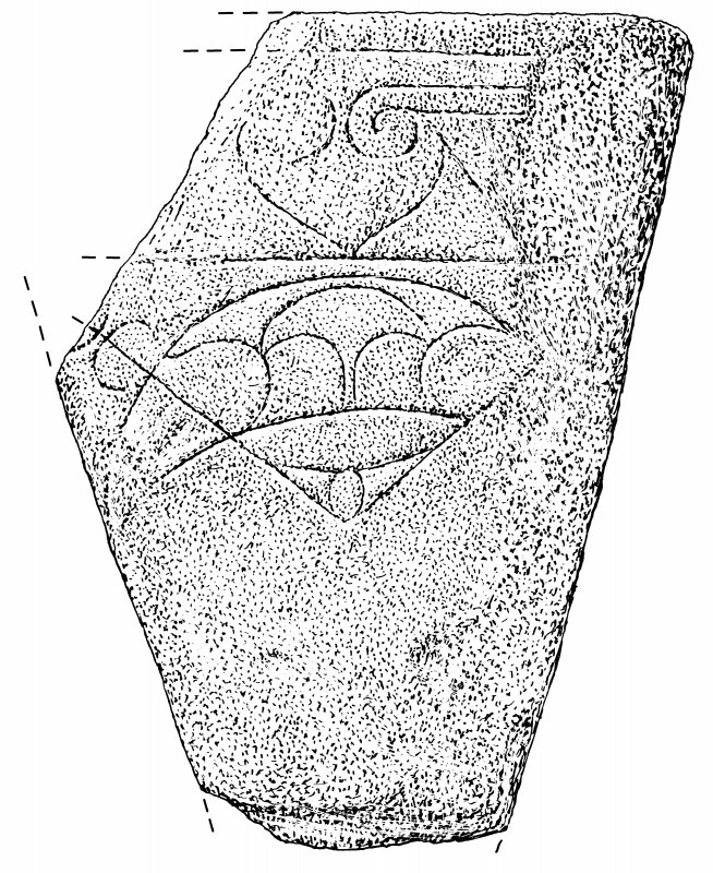 Measured drawing of symbol stone from Redland, Firth.
