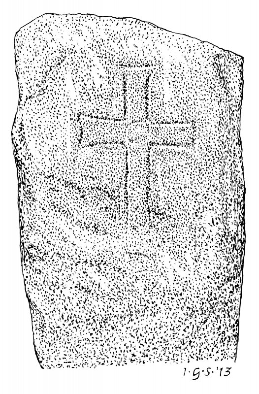 Measured drawing of cross-slab from the Brough of Birsay.