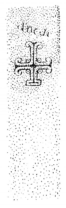 Measured drawing of cross-slab from Papa Stronsay.