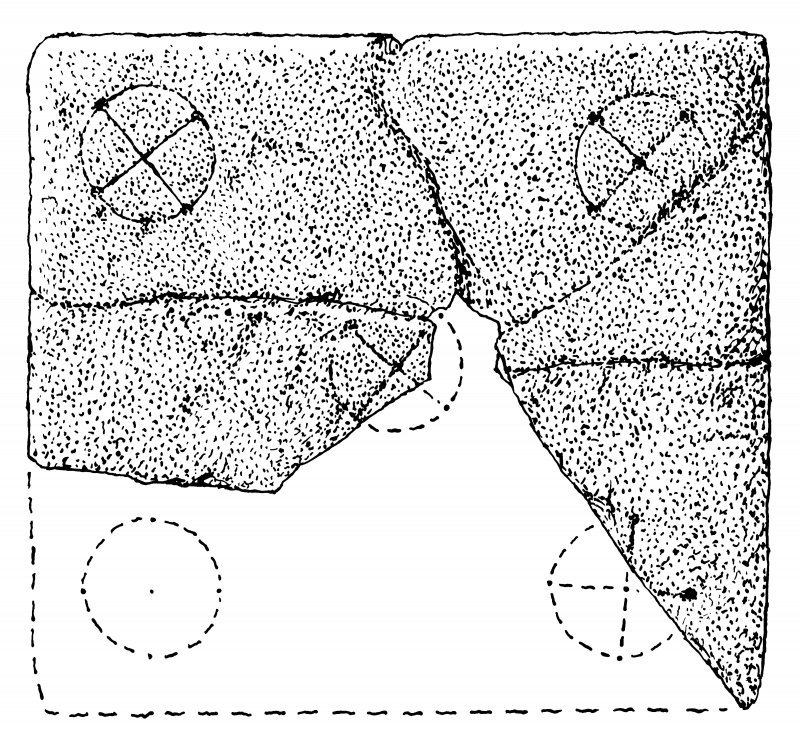 Measured drawing of portable cross-slab from Papa Stronsay.