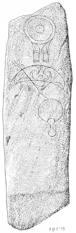 Measured drawing of the symbol stone from Greens.