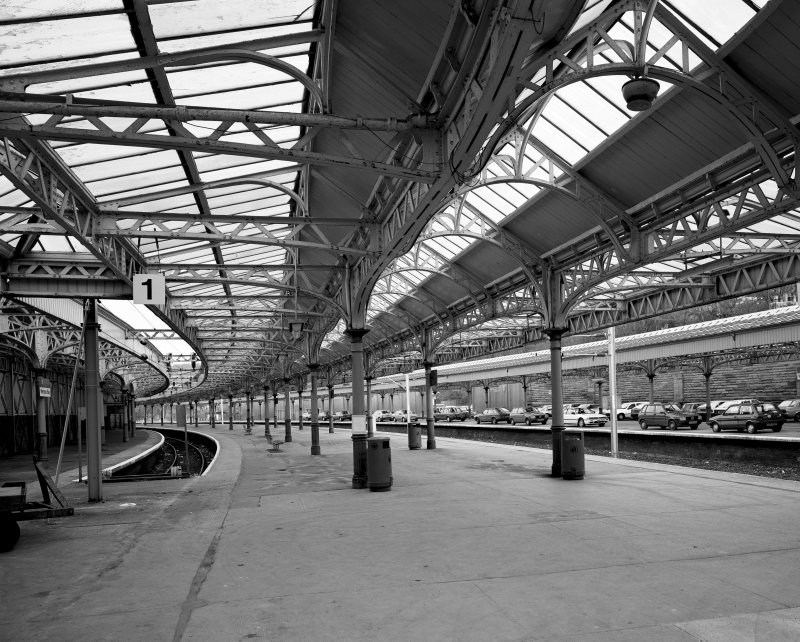 View of platforms 1 and 2 from South.