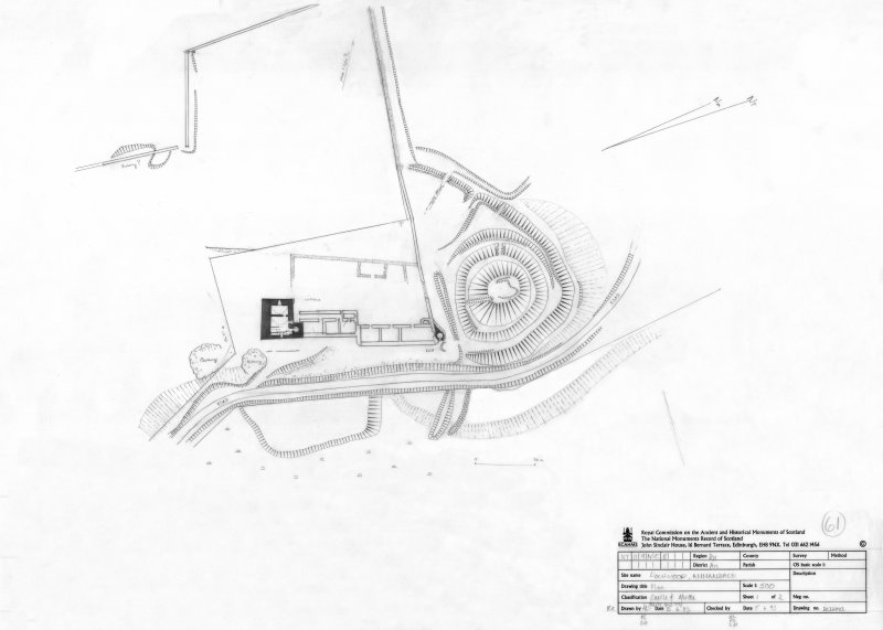 400dpi scan of DC32403 Plan of Lochwood Castle and Motte