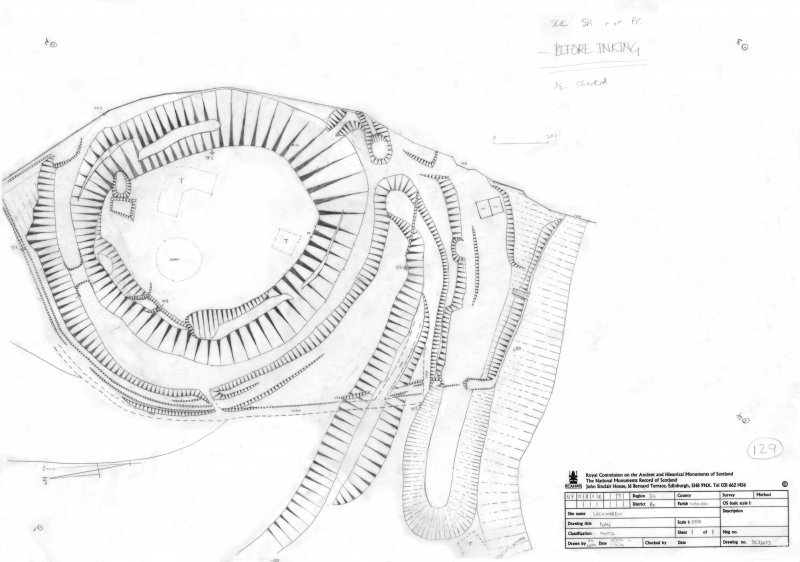 400dpi scan of DC32473 Plan of Lochmaben motte