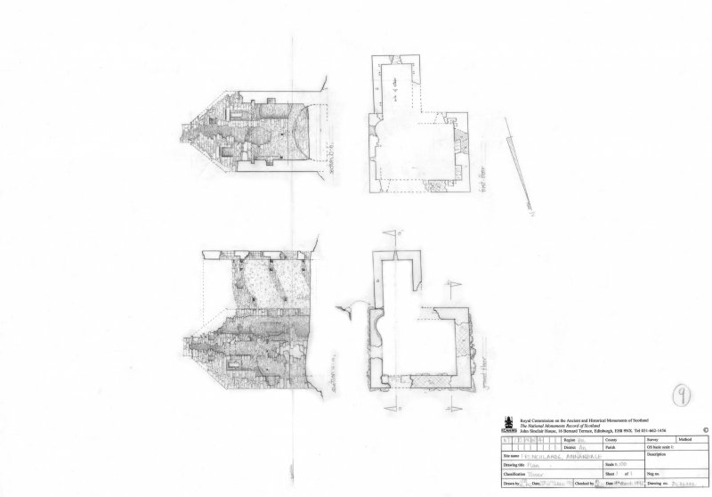 400dpi scan of DC32332 Plan of Frenchlands Tower