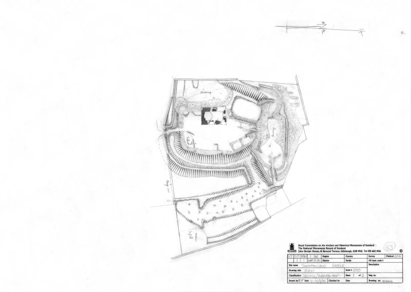 400dpi scan of DC32422 Plan of Torthorward castle and earthwork