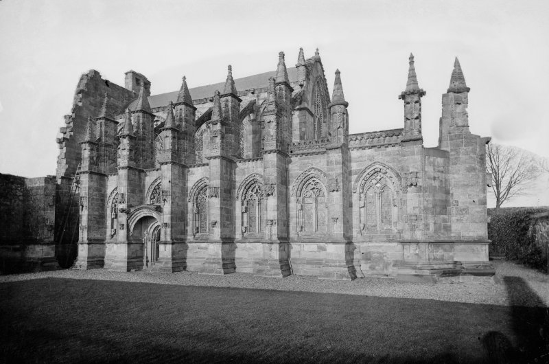 View of the south front of Roslin Chapel.