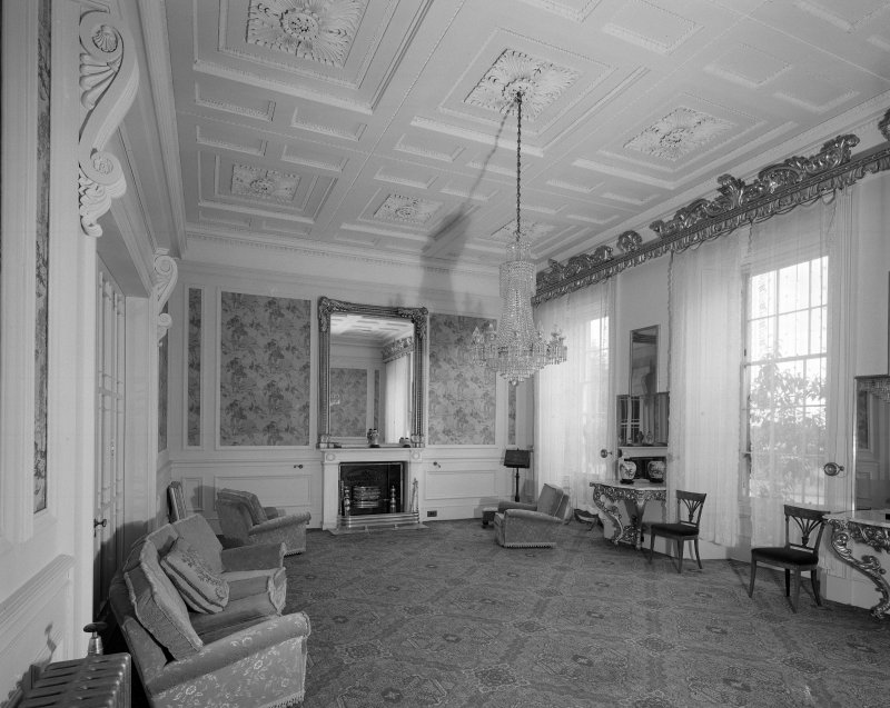 Ballindean House. Interior general view of Drawing Room.
