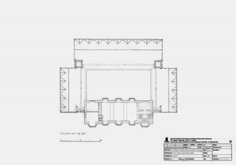 Madras College: First floor and Roof plan