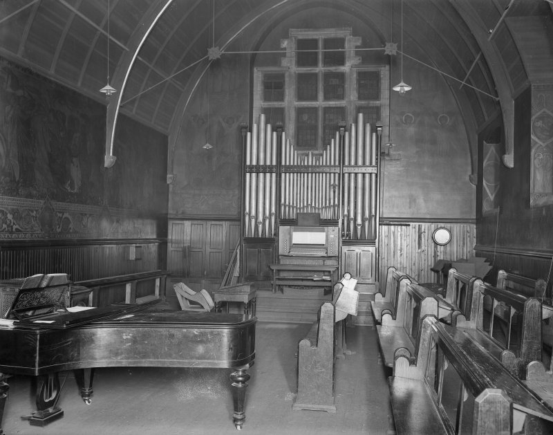 Interior view of song school, St. Mary's Episcopal Cathedral, Edinburgh.