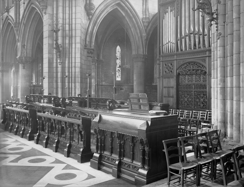 View of choir stalls, St Mary's Episcopal Cathedral, Edinburgh.