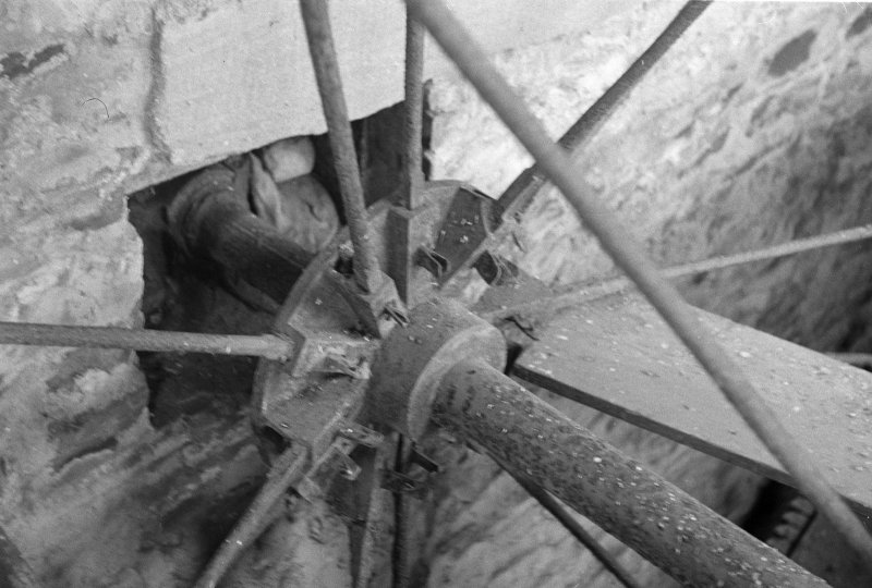 Detail of water wheel hub and arms