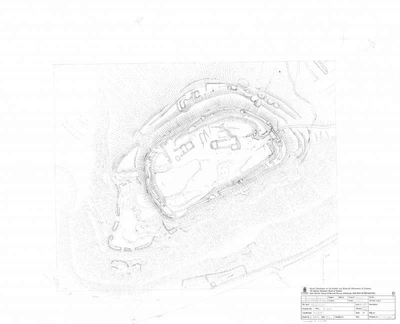 Denoon Law Fort, survey drawing 1:500