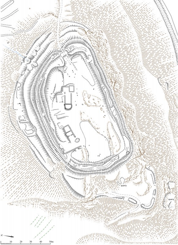Denoon Law Fort, Plan. 600dpi copy of Illustrator file GV005323