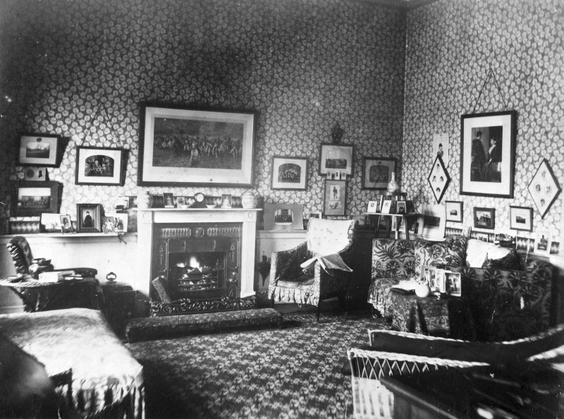 Interior view of the smoking room, Valleyfield.