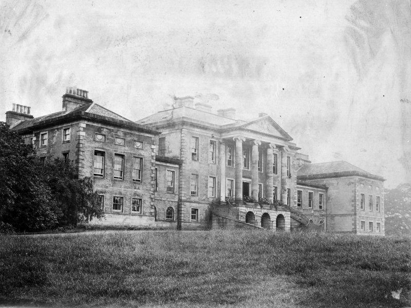 View of the north front of Valleyfield House from the NNE.